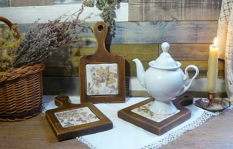Кедр и керамика, подставка под горячее Луговая, Подставка под горячее, Ногинск,  Фото №1