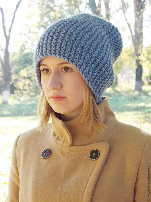 Шапки ручной работы. Ярмарка Мастеров - ручная работа. Купить Шапка бини, Вязаная шапка, Объёмная шапка, Зимняя шапка, Женская шапка. Handmade.