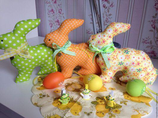 Подарки на Пасху ручной работы. Ярмарка Мастеров - ручная работа. Купить Пасхальные кролики.. Handmade. Комбинированный, пасхальный сувенир