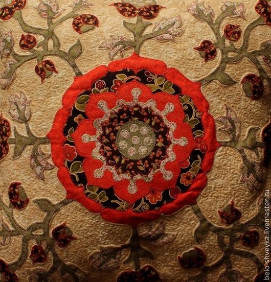 Текстиль, ковры ручной работы. Ярмарка Мастеров - ручная работа. Купить Подушка №1. Handmade. Разноцветный, Аппликация, quilting