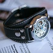 Украшения handmade. Livemaster - original item Aviator black men`s wrist watch. Handmade.