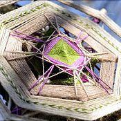 """Картины и панно ручной работы. Ярмарка Мастеров - ручная работа Индейская мандала """"Расцветает"""". Handmade."""