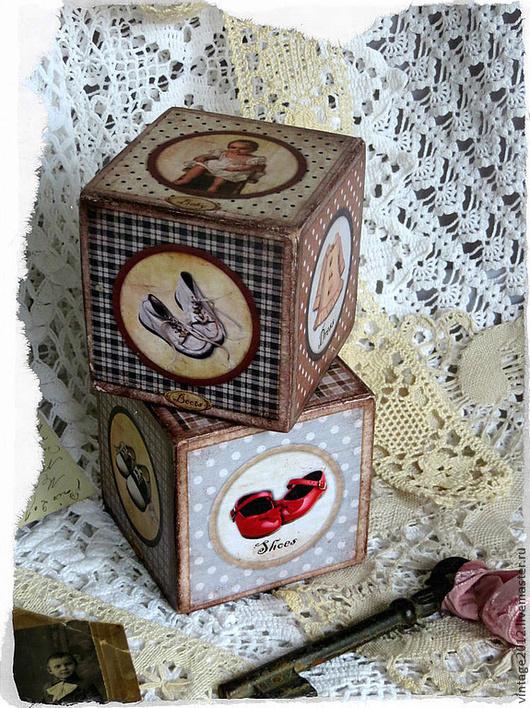 Детская ручной работы. Ярмарка Мастеров - ручная работа. Купить Старые английские кубики. Handmade. Винтаж, одежда