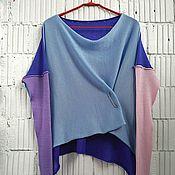 Одежда ручной работы. Ярмарка Мастеров - ручная работа КН_003_КСАГ Блузон 4-хцветный. Handmade.
