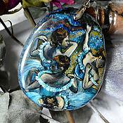 """Подвеска ручной работы. Ярмарка Мастеров - ручная работа """"Голубые танцовщицы"""" (кулон). Handmade."""