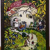 Картины и панно handmade. Livemaster - original item Stained glass painting on glass