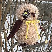 Куклы и игрушки ручной работы. Ярмарка Мастеров - ручная работа Сова. Вязаная игрушка из шерсти Задумчивая сова. Handmade.