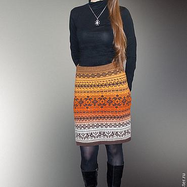 Одежда ручной работы. Ярмарка Мастеров - ручная работа Вязаная юбка шерстяная. Handmade.