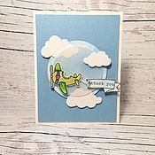 Открытки ручной работы. Ярмарка Мастеров - ручная работа Открытка Воздушная. Handmade.