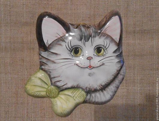 Миниатюрные модели ручной работы. Ярмарка Мастеров - ручная работа. Купить Панно Котик. Handmade. Разноцветный, панно в подарок, сувенир