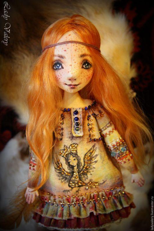 Коллекционные куклы ручной работы. Ярмарка Мастеров - ручная работа. Купить Яруша. Handmade. Рыжий, текстильная кукла, бисер