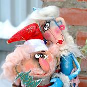 Подарки к праздникам ручной работы. Ярмарка Мастеров - ручная работа Дед Мороз и Снегурочка.. Handmade.