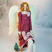 Куклы и игрушки ручной работы. Ярмарка Мастеров - ручная работа Рождественский Ангел Тильда. Handmade.