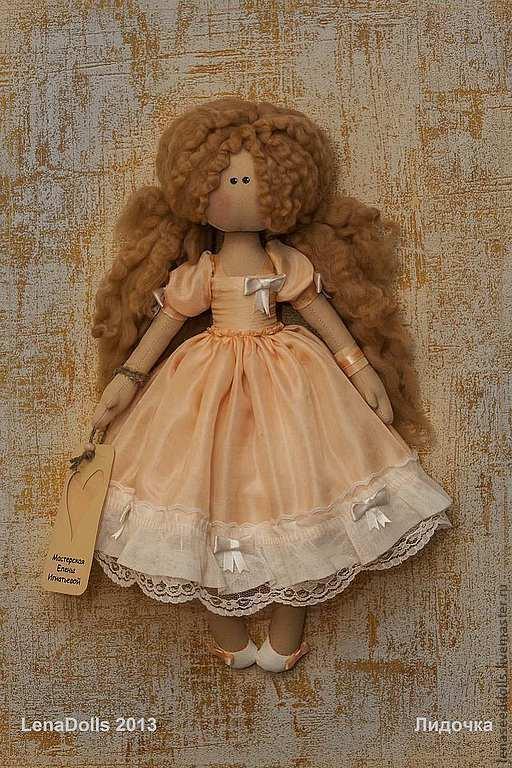 Коллекционные куклы ручной работы. Ярмарка Мастеров - ручная работа. Купить - Лидочка -. Handmade. Кукла ручной работы, подарок девушке