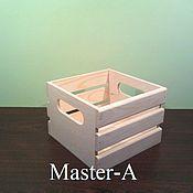 Материалы для творчества ручной работы. Ярмарка Мастеров - ручная работа Ящик реечный ,,М,, - заготовка для декупажа. Handmade.