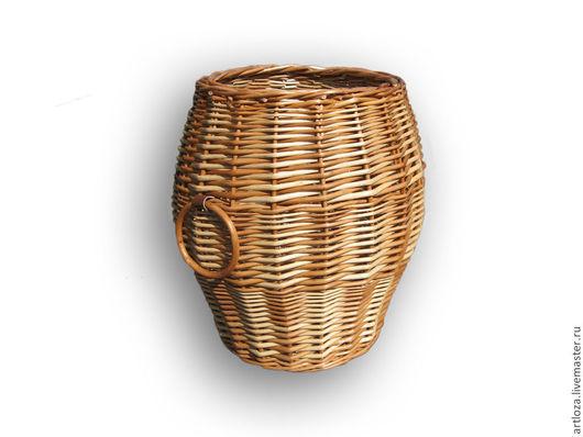 """Корзины, коробы ручной работы. Ярмарка Мастеров - ручная работа. Купить Плетеная корзина для хранения """"Бочонок"""" из натур. лозы. Handmade."""