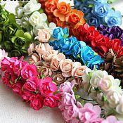Цветы искусственные ручной работы. Ярмарка Мастеров - ручная работа Бумажные цветы для скрапбукинга 15мм. Handmade.
