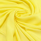 Ткани ручной работы. Ярмарка Мастеров - ручная работа Ткань штапель желтый. Handmade.