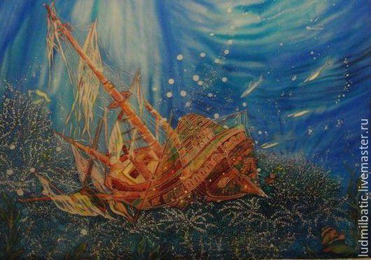 Пейзаж ручной работы. Ярмарка Мастеров - ручная работа. Купить Коралловый риф. Handmade. Синий, море, глубина