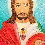 Иконы ручной работы. Ярмарка Мастеров - ручная работа Образ Иисуса. Handmade.