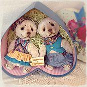 """Куклы и игрушки ручной работы. Ярмарка Мастеров - ручная работа Мишки тедди """"Два сердца"""". Handmade."""