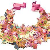 """Украшения ручной работы. Ярмарка Мастеров - ручная работа Колье """" Пурпурные Бабочки"""". Handmade."""