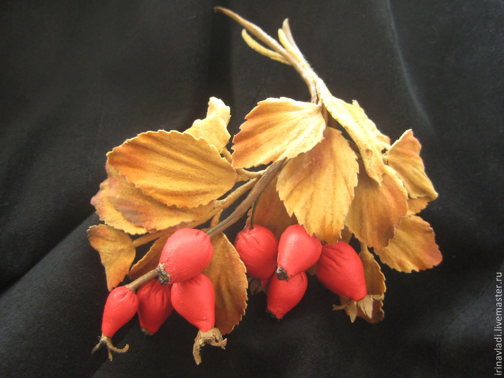 leather flowers,leather jewelry,leather rose,red wild rose,dogrose berries,decoration leather,hair leather,leather brooch ,leather brooch, leather hair band, hair ornament,leather