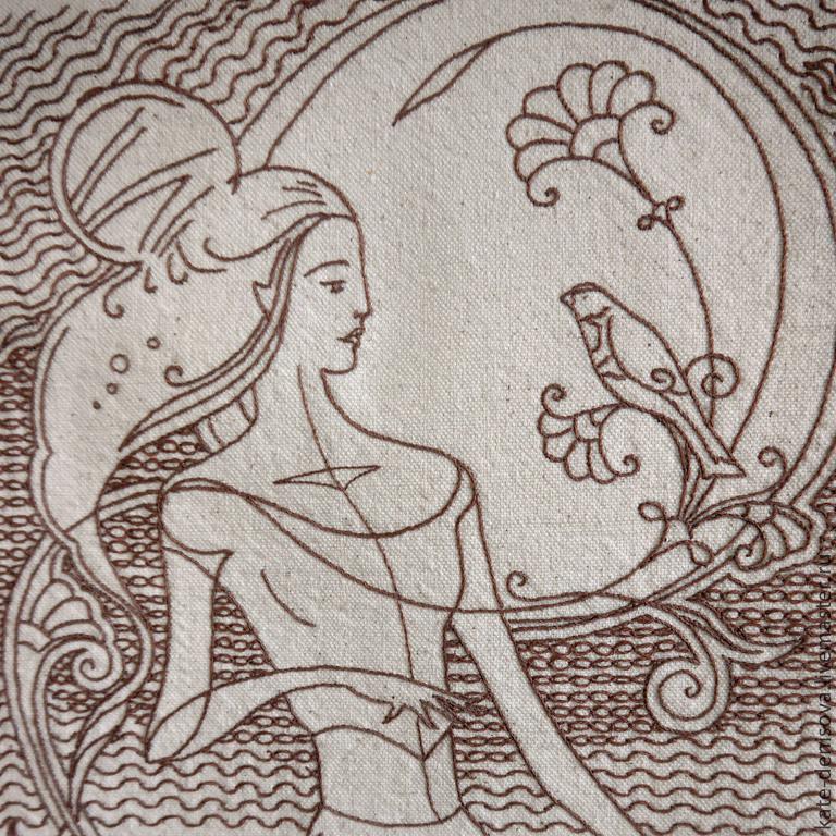 Сумка с ручной вышивкой Флёр