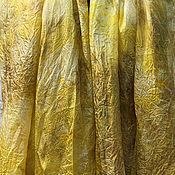 Палантины ручной работы. Ярмарка Мастеров - ручная работа Шарф шелковый ручного крашения `Золото`. Handmade.