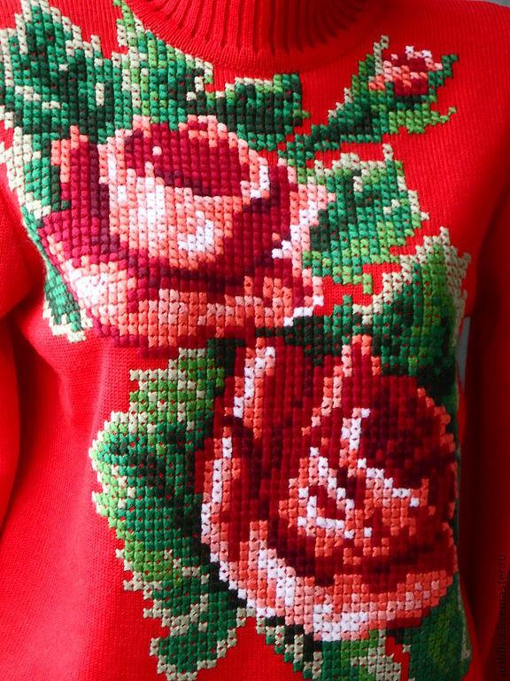 Кофта с розами с доставкой