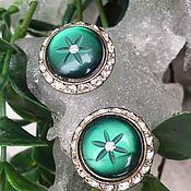 Винтаж handmade. Livemaster - original item A bit of Art Deco... Antique clip-on earrings.. Handmade.