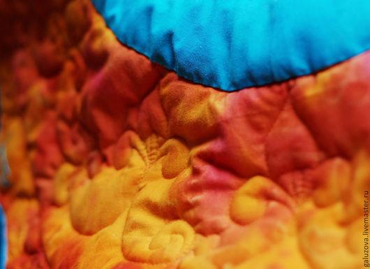 """Текстиль, ковры ручной работы. Ярмарка Мастеров - ручная работа. Купить Коврик для медитации """"Свадхистана"""". Handmade. Рыжий, йога, индийский"""