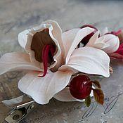 Украшения ручной работы. Ярмарка Мастеров - ручная работа Зажим для волос с орхидеей. Handmade.