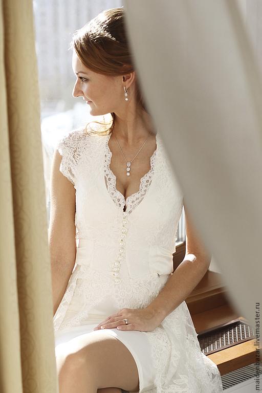 Одежда и аксессуары ручной работы. Ярмарка Мастеров - ручная работа. Купить Свадебное платье. Handmade. Белый, белое платье