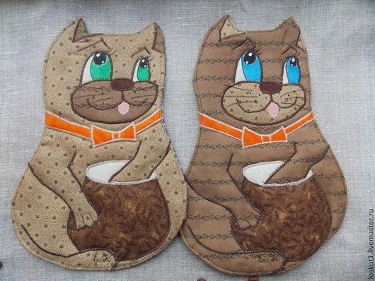 Кухонная декоративная прихватка с котами для украшения кухни