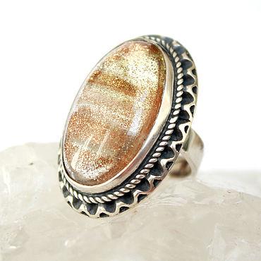 Decorations handmade. Livemaster - original item Goldilocks quartz ring set in 925 sterling silver. Handmade.