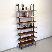 Для дома и интерьера handmade. Livemaster - original item Loft style shelving 186 cm x 80 cm.. Handmade.