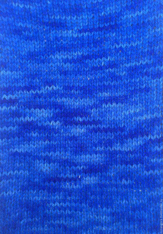 """Вязание ручной работы. Ярмарка Мастеров - ручная работа. Купить Пряжа кроличья """"Бриллиантово-голубая"""" деграде. Handmade. Синий цвет"""