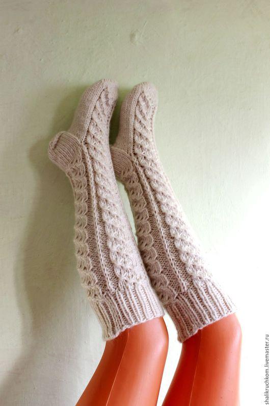 Носки, Чулки ручной работы. Ярмарка Мастеров - ручная работа. Купить Гольфы вязаные шерстяные ручной работы. Handmade. Гольфы