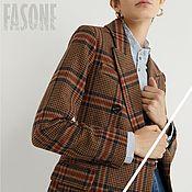 Одежда handmade. Livemaster - original item jackets: Female brown plaid jacket. Handmade.