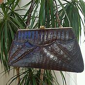 Винтаж ручной работы. Ярмарка Мастеров - ручная работа Прекрасная винтажная кроко-сумочка. Handmade.