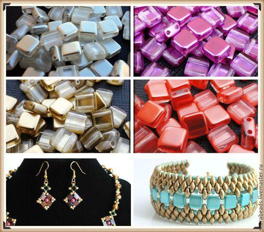 Выберите цвет! Примеры изделий с  Tile бусинами.