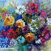 """Картины и панно ручной работы. Ярмарка Мастеров - ручная работа """"Букет Восторга"""" - картина маслом с цветами. Handmade."""
