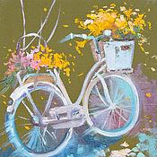 Картины и панно ручной работы. Ярмарка Мастеров - ручная работа Floral fly to the clouds. Handmade.