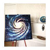 Картины и панно ручной работы. Ярмарка Мастеров - ручная работа Спираль Вселенной, масло 70*70. Handmade.