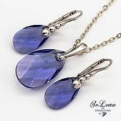 Украшения handmade. Livemaster - original item Silver earrings and pendant with Swarovski crystals Swarovski Set. Handmade.