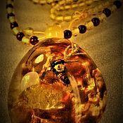 Украшения handmade. Livemaster - original item Miracle In amber inclusion. imitation. Handmade.