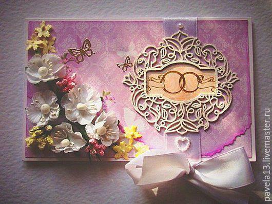 Конверты для денег ручной работы. Ярмарка Мастеров - ручная работа. Купить открытки, свадебные денежные конверты. Handmade. Розовый