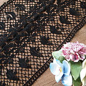 Винтаж handmade. Livemaster - original item Collection Noire: antique lace insert dress. Handmade.
