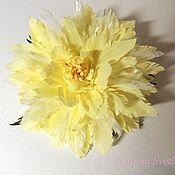 Украшения handmade. Livemaster - original item Yellow chrysanthemum. Silk flowers No. №5. Handmade.